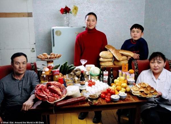 Семья из Монголии, тратит на продукты 40,02 $ в неделю