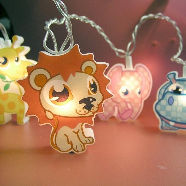 Animal string lights – креативный светильник-гирлянда для детских комнат