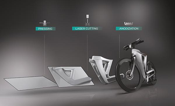 Корпус Bike 13 сделан из цельного листового алюминия