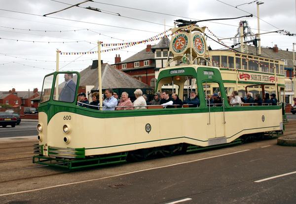 Трамвай без крыши, Блэкпул.