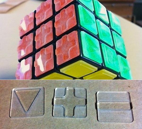 Наклейки для незрячих на Кубик Рубика