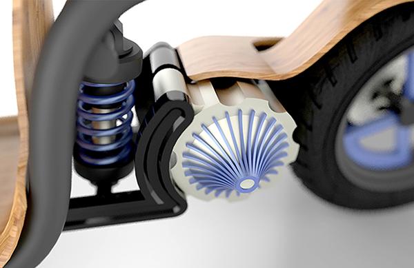 EcoMoto оснащен мотором, работающим на сжатом воздухе