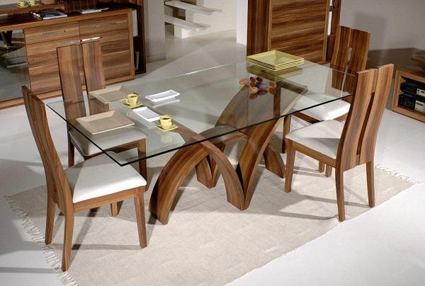 Обзор стильных стеклянных столов для столовой