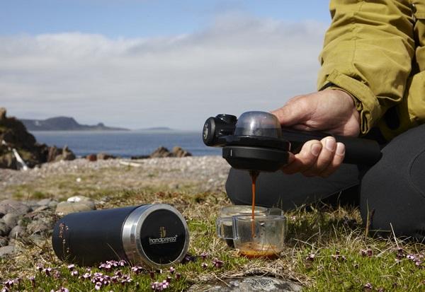 Handpresso Wild – компактная кофеварка, работающая без электричества