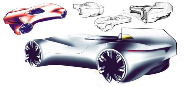 Первые скетчи Jaguar XK-I