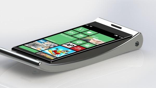 Kurbo Smartphone - концепт нетипично 'толстого' смартфона от Pedro Borelli
