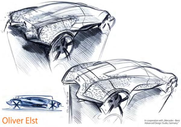 Скетчи концепт-кара от Oliver Elst