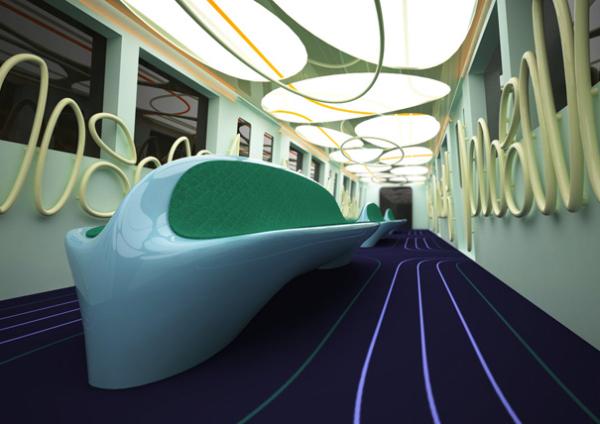 Концепт футуристичного вагона метро Metrocar