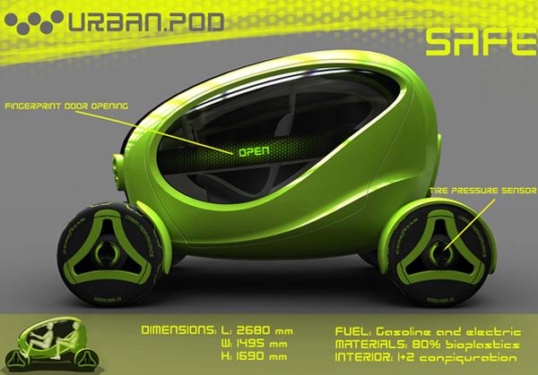 Концепт-кар Urban Pod имеет компактные габариты