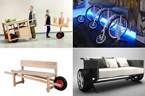 уникальная мебель на колесах
