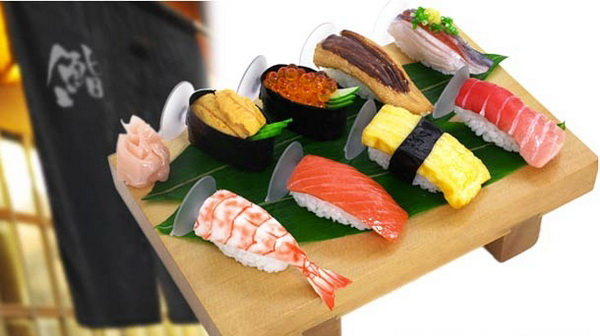 Держатель для смартфонов в форме суши и роллов