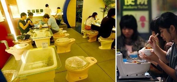 Популярный ресторан-туалет в Тайване