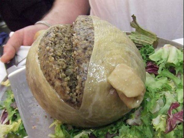 Национальная шотландская еда Хаггис