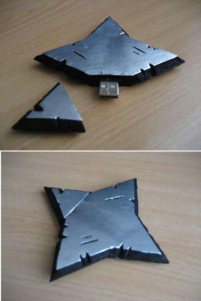 Shuriken USB Kicks – оригинальная флэшка в стиле ниндзя