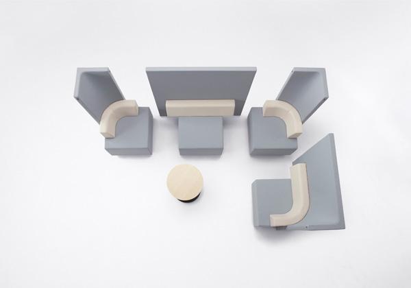 Блочная система диванов от японских дизайнеров.