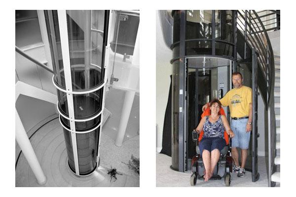 Вакуумный лифт идеален для домов, где живут пожилые люди или люди с ограниченными возможностями