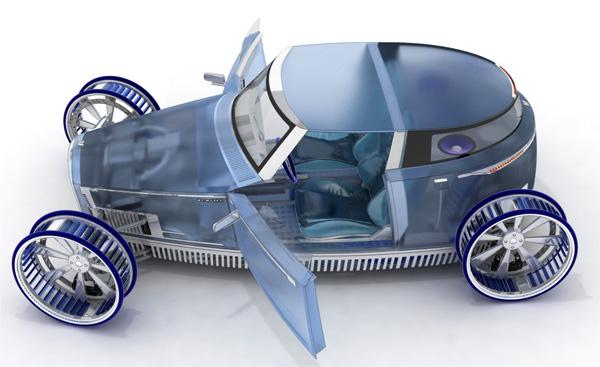 Концепт-кар VENTILE: автомобиль и ветряная мельница