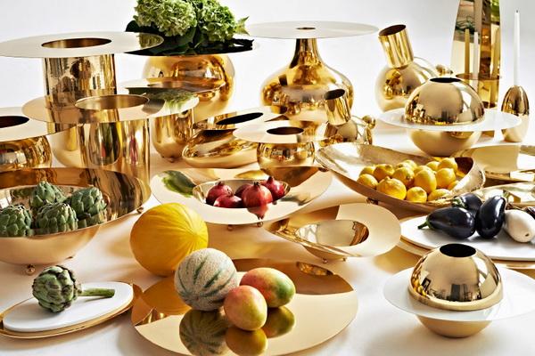Коллекция посуды Alex Meitlis by Hazorfim из латуни
