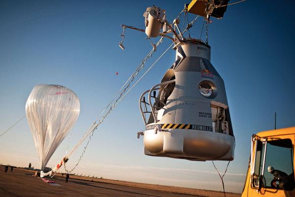 Воздушный шар с капсулой Феликса Баумгартнера