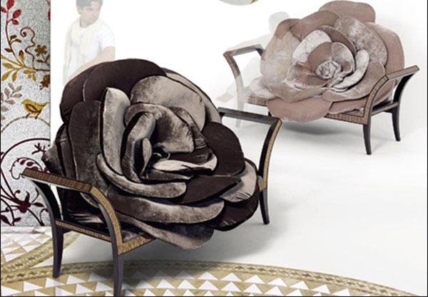 Кресло Чёрная роза