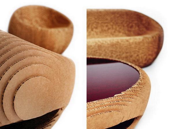 Коллекция мебели из переработанного картона
