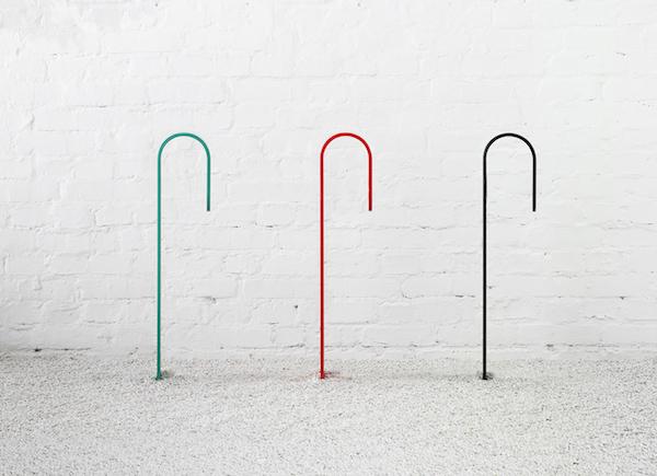 Профильный вид велостойки Hook.