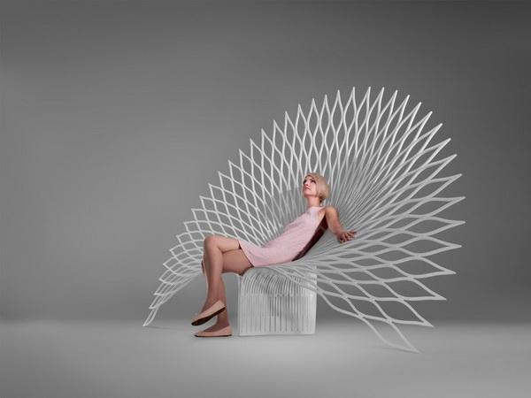 Кресло Peacock в форме павлина