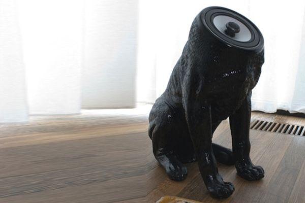 Необычные колонки в виде собаки без головы от дизайнера Sander Mulder