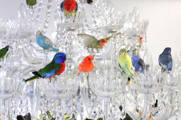 Люстра с птицами XL bird chandelier