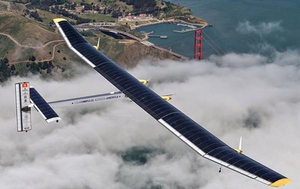 Первый трансамериканский полет на солнечном самолете