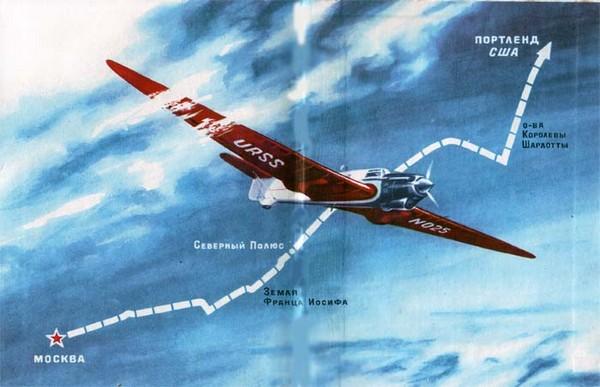 Полет Чкалова через Северный полюс