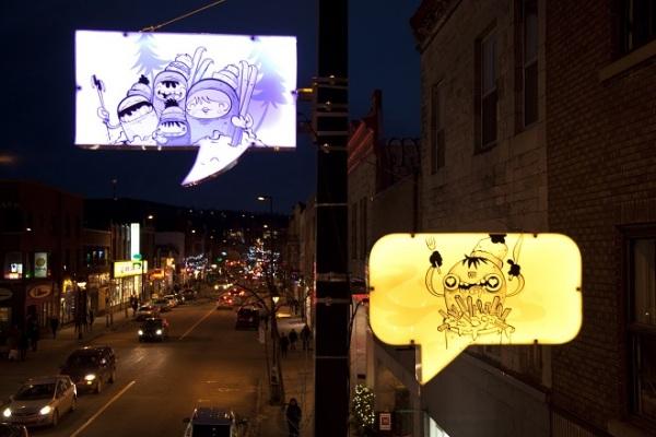 Сезонная иллюминация на Mount-Royal авеню.