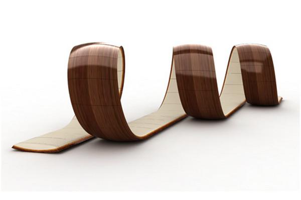 Спиралевидный диван