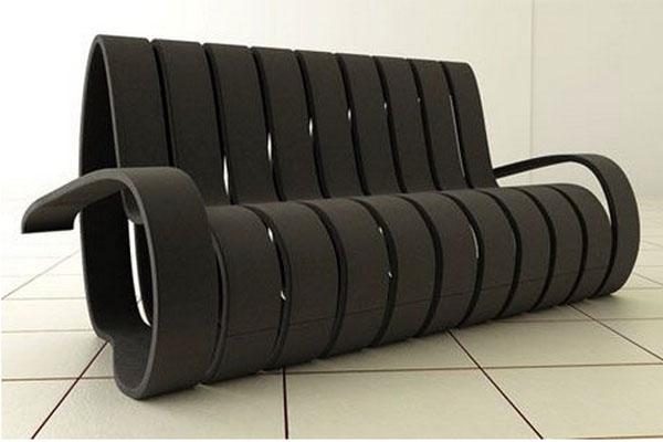Спиральный диван Velvet Sofa