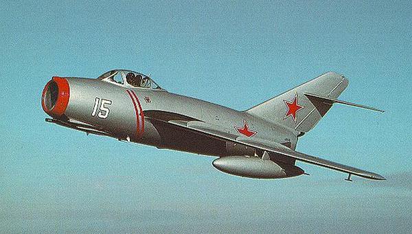 Первый реактивный самолёт МиГ-15.