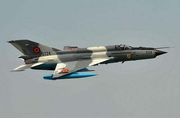 Первый советский самолёт с треугольным крылом МиГ-21.