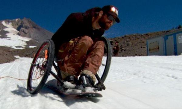 Сноуборд для инвалидов от Дейва Ли.