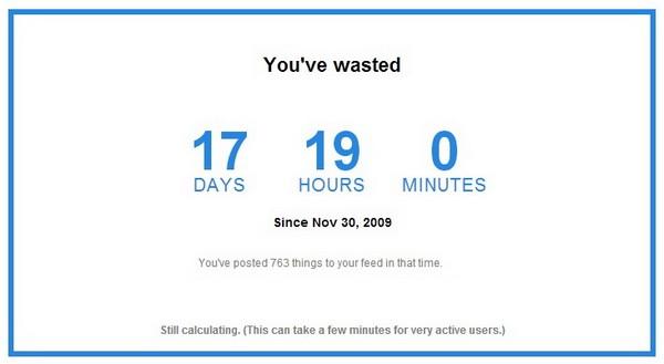 Facebook Time Machine – счетчик времени, проведенного в Facebook. Источник фото: Time