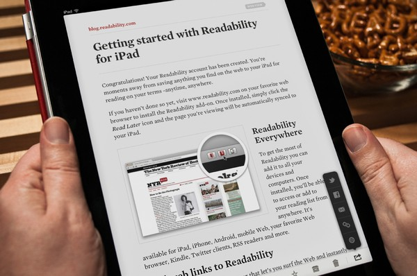 Readability – программа для отложенного чтения. Источник фото: verekia.com