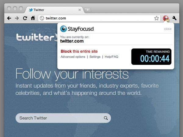 StayFocusd – плагин для Google Chrome, блокирующий сайты. Источник фото: webeditorsnotes.com