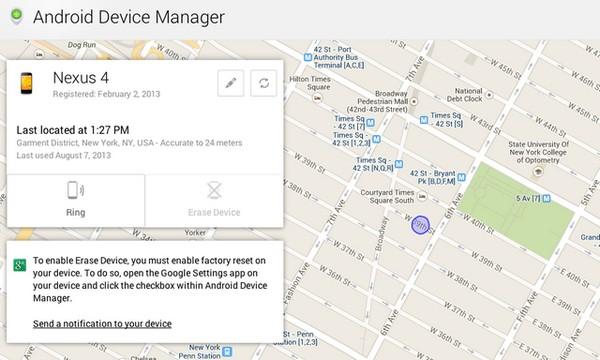 Сервис от Google для поиска пропавшего телефона. Источник фото: Google