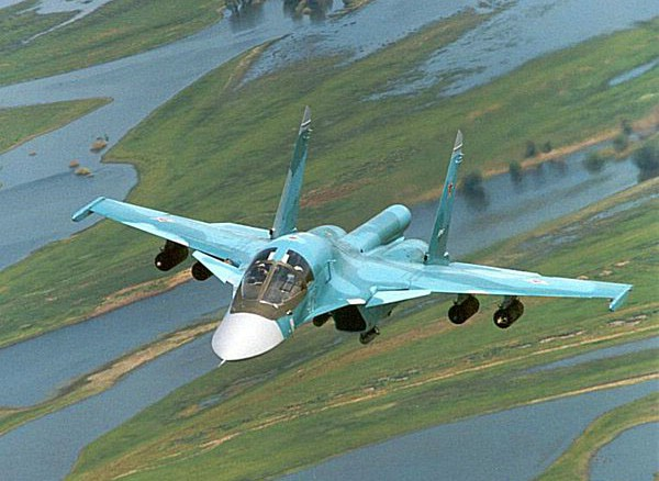 Фронтовой бомбардировщик Су-34. Фото: blogspot.com
