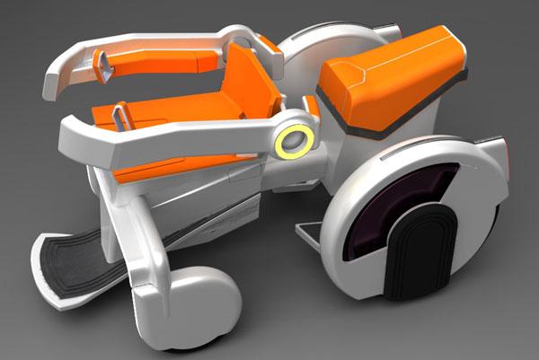 Концепт скутера Tandem