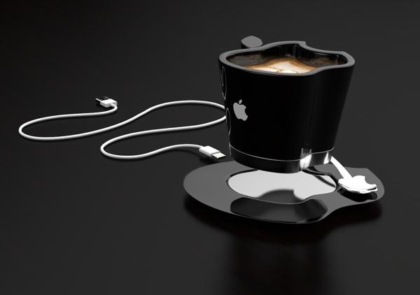 Чашка с блюдцем Apple iCup