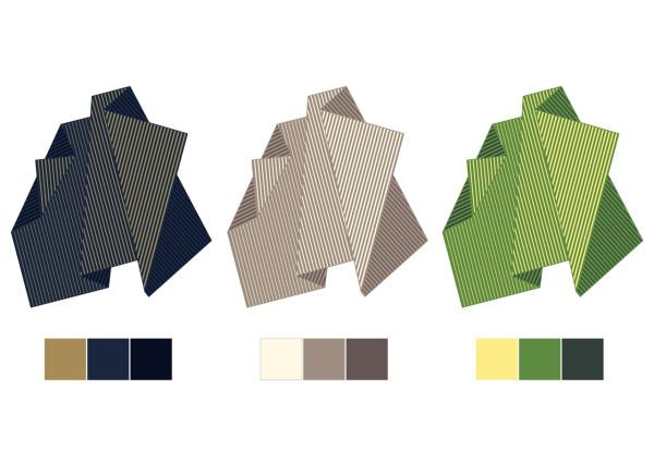 Варианты расцветки Folded Tones