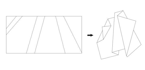 Folded Tones: ковер, похожий на сложенный лист бумаги