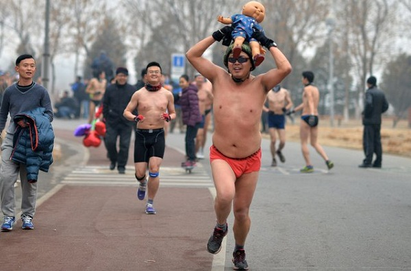 Пекинский марафон в трусах