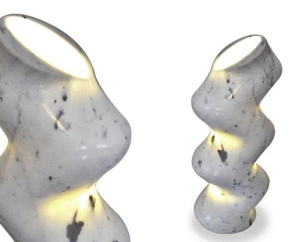 Светильник из мрамора Sinuosoide