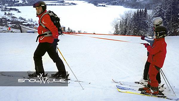 Рюкзак Snowmule на склоне.