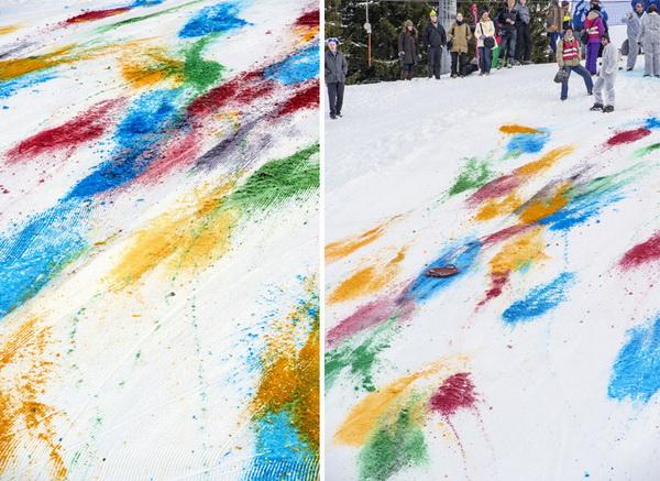 Разноцветный склон от Olaf Breuning